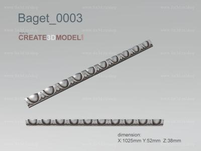 Baget 0003 | stl - 3d model for NC machine stl model for CNC