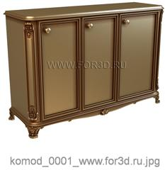 Chest of drawers 0001 3d stl модель для ЧПУ