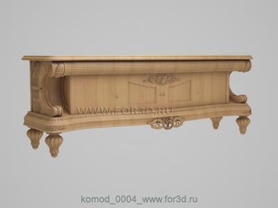 Chest of drawers 0004 3d stl модель для ЧПУ