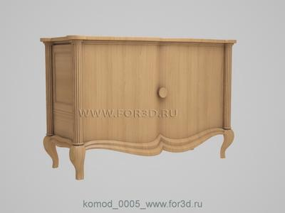 Chest of drawers 0005 3d stl модель для ЧПУ