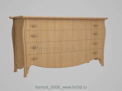 Chest of drawers 0006 3d stl модель для ЧПУ