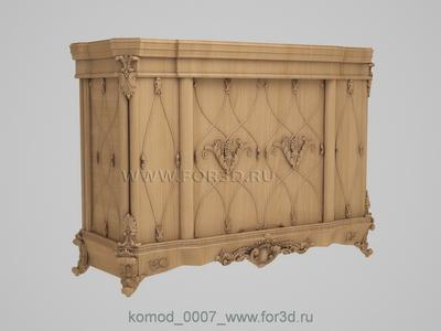 Chest of drawers 0007 3d stl модель для ЧПУ