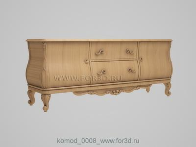 Chest of drawers 0008 3d stl модель для ЧПУ