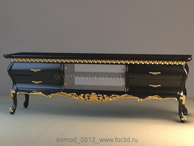 Chest of drawers 0012 3d stl модель для ЧПУ