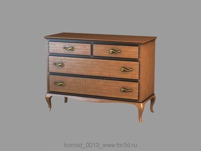 Chest of drawers 0013 3d stl модель для ЧПУ
