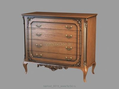 Chest of drawers 0015 3d stl модель для ЧПУ