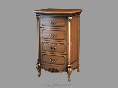 Chest of drawers 0016 3d stl модель для ЧПУ