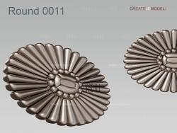 Round_0011 stl model for CNC