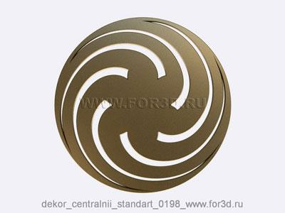 Decor central standart 0198 stl model for CNC