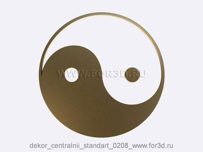 Decor central standart 0208 stl model for CNC