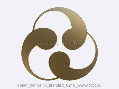 Decor central standart 0210 stl model for CNC