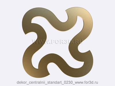 Decor central standart 0230 stl model for CNC