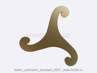 Decor central standart 0231 stl model for CNC
