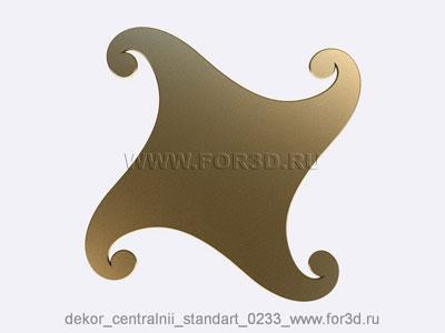 Decor central standart 0233 stl model for CNC