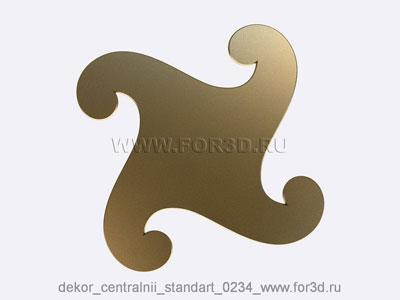Decor central standart 0234 stl model for CNC