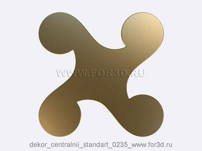Decor central standart 0235 stl model for CNC
