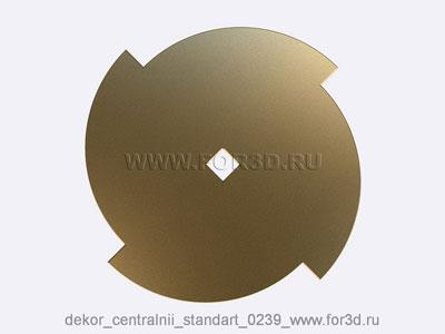 Decor central standart 0239 stl model for CNC