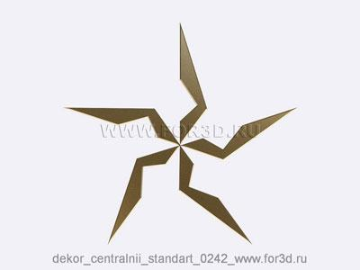 Decor central standart 0242 stl model for CNC