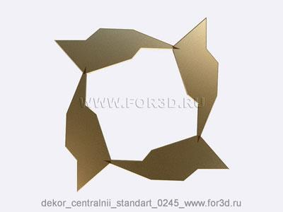 Decor central standart 0245 stl model for CNC