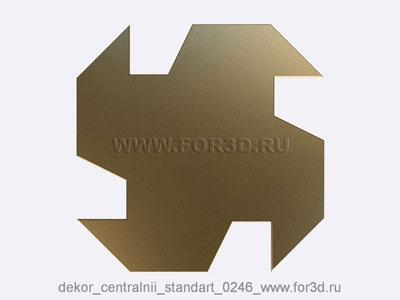 Decor central standart 0246 stl model for CNC