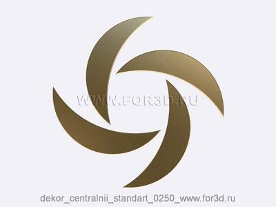 Decor central standart 0250 stl model for CNC