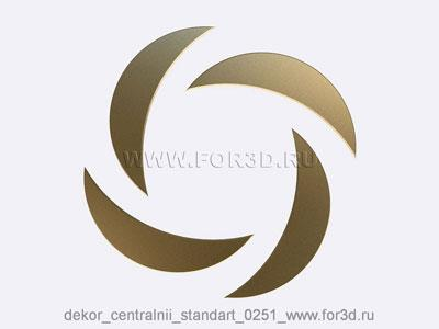Decor central standart 0251 stl model for CNC