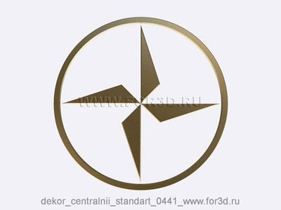 Decor central standart 0441 stl model for CNC