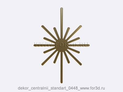 Decor central standart 0448 stl model for CNC