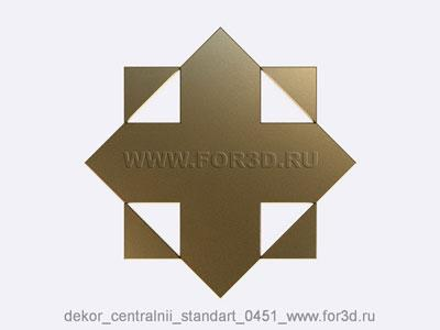 Decor central standart 0451 stl model for CNC