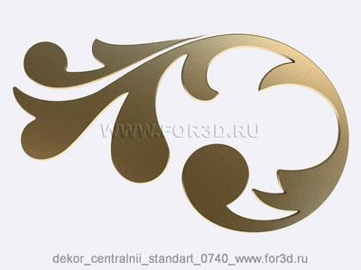 Decor central standart 0740 stl model for CNC