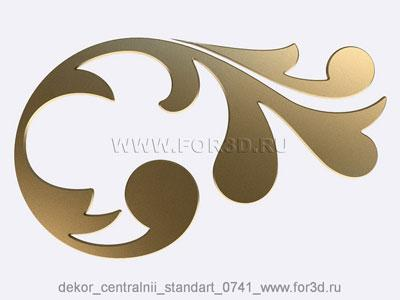 Decor central standart 0741 stl model for CNC