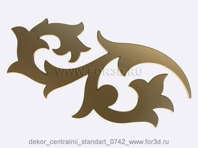 Decor central standart 0742 stl model for CNC