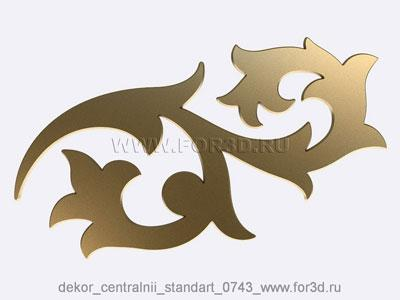 Decor central standart 0743 stl model for CNC