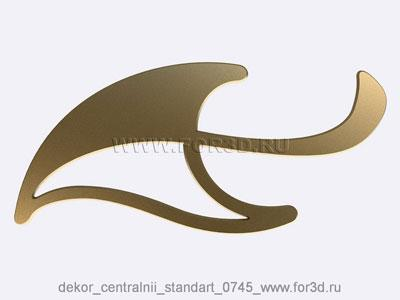 Decor central standart 0745 stl model for CNC