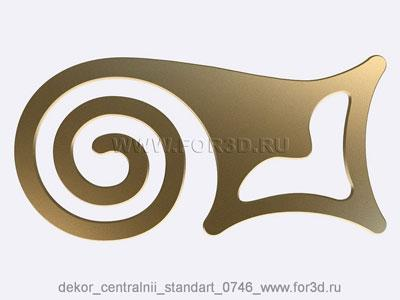 Decor central standart 0746 stl model for CNC