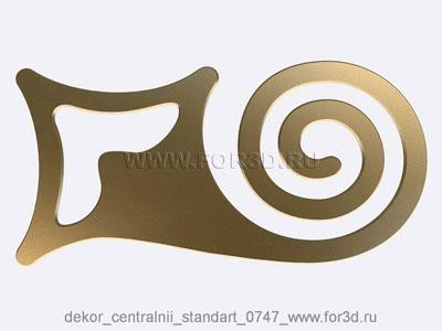Decor central standart 0747 stl model for CNC