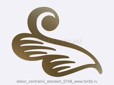 Decor central standart 0748 stl model for CNC