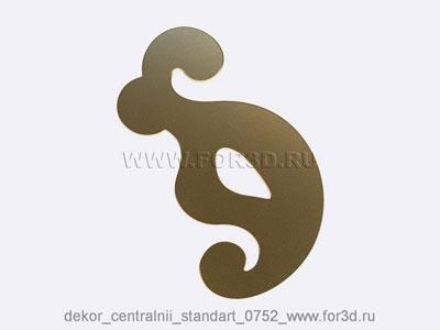 Decor central standart 0752 stl model for CNC