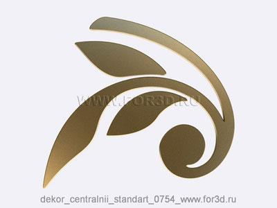 Decor central standart 0754 stl model for CNC