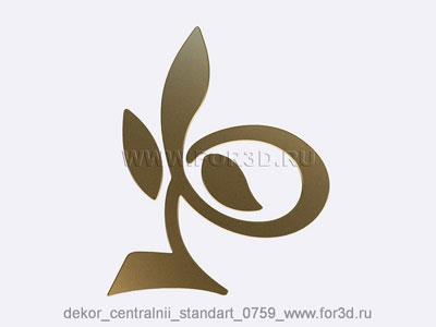 Decor central standart 0759 stl model for CNC