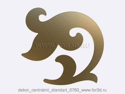 Decor central standart 0760 stl model for CNC