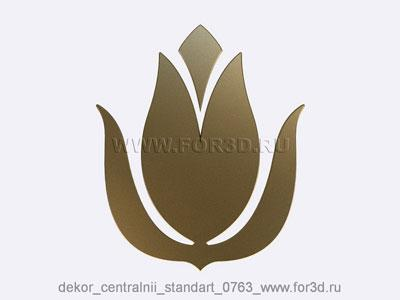 Decor central standart 0763 stl model for CNC
