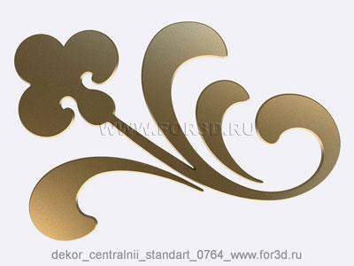 Decor central standart 0764 stl model for CNC