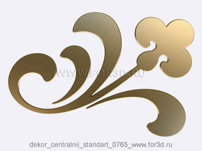 Decor central standart 0765 stl model for CNC
