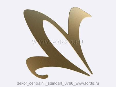 Decor central standart 0766 stl model for CNC