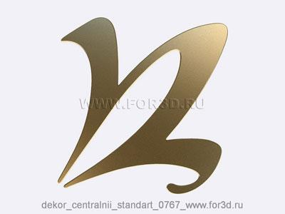 Decor central standart 0767 stl model for CNC