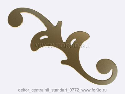 Decor central standart 0772 stl model for CNC