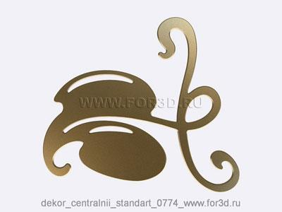 Decor central standart 0774 stl model for CNC