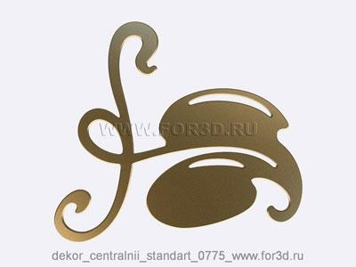 Decor central standart 0775 stl model for CNC
