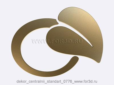 Decor central standart 0776 stl model for CNC